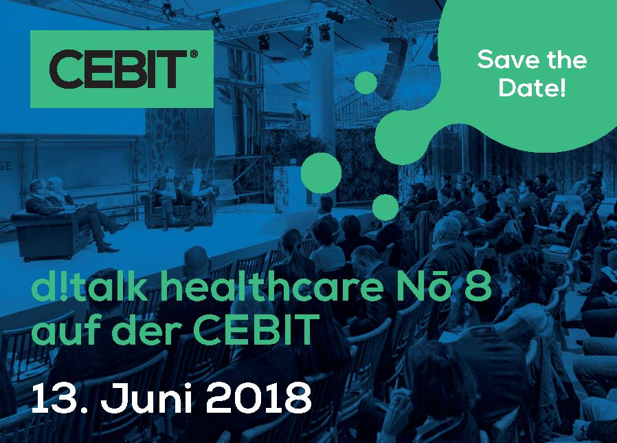 CEBIT 2018, Hanover, d!talk healthcare no. 8, digital health, Matthias Schonermark